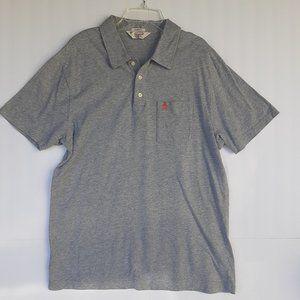 Original Penguin Shirts - Mens Polo Large Heather Gray Classic Fit Penguin
